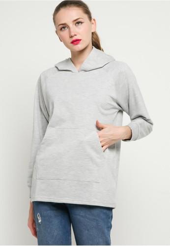 BLYTHÉ grey Basic Pullover Hoodie B7FE1AA0EA80EDGS_1
