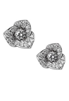 Grandiose Flower Silver Earrings