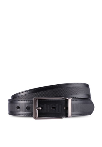 Gay Giano black Full Grain Calf  Leather Belt 6254FAC4A26201GS_1