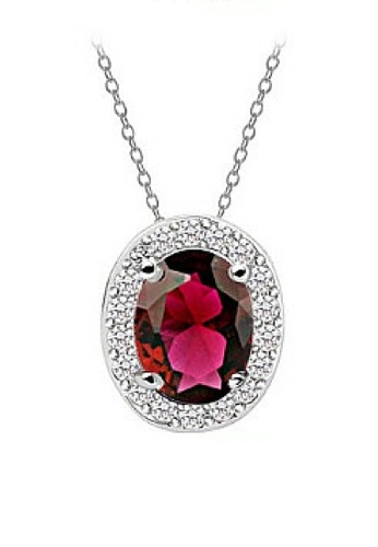 Vivere Rosse red Oval Necklace VI014AC00JOHMY_1