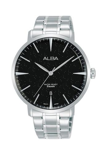ALBA PHILIPPINES black and silver Black Dial Stainless Steel Strap AS9L79 Quartz Men's Watch CF3C7ACFF0E7CBGS_1