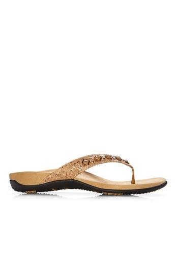 Vionic beige Floriana Toe Post Sandal 17062SHC613BEFGS_1