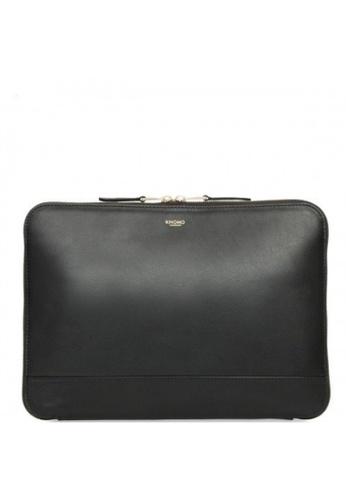 "knomo black Mason 12"" Leather Knomad Clutch Bag (Black) EF65AACB6C0B6CGS_1"
