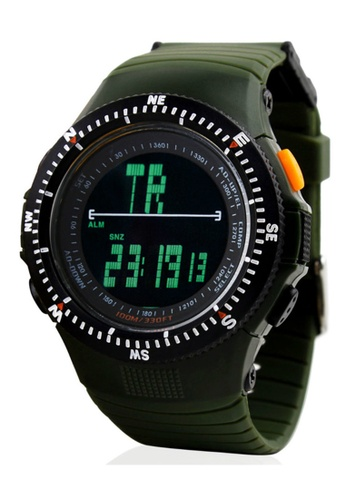 Skmei green SKMEI 0989 Men's Military LED Digital Watch (Green) SK707AC0RXNJMY_1
