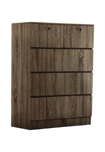 Choice Furniture brown Choice Furniture - Chilton Chest of Drawers 7966EHLD50DA20GS_1