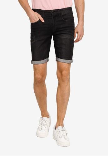 Indicode Jeans black Kaden Tapered Denim Shorts 9C570AA6C89B5DGS_1