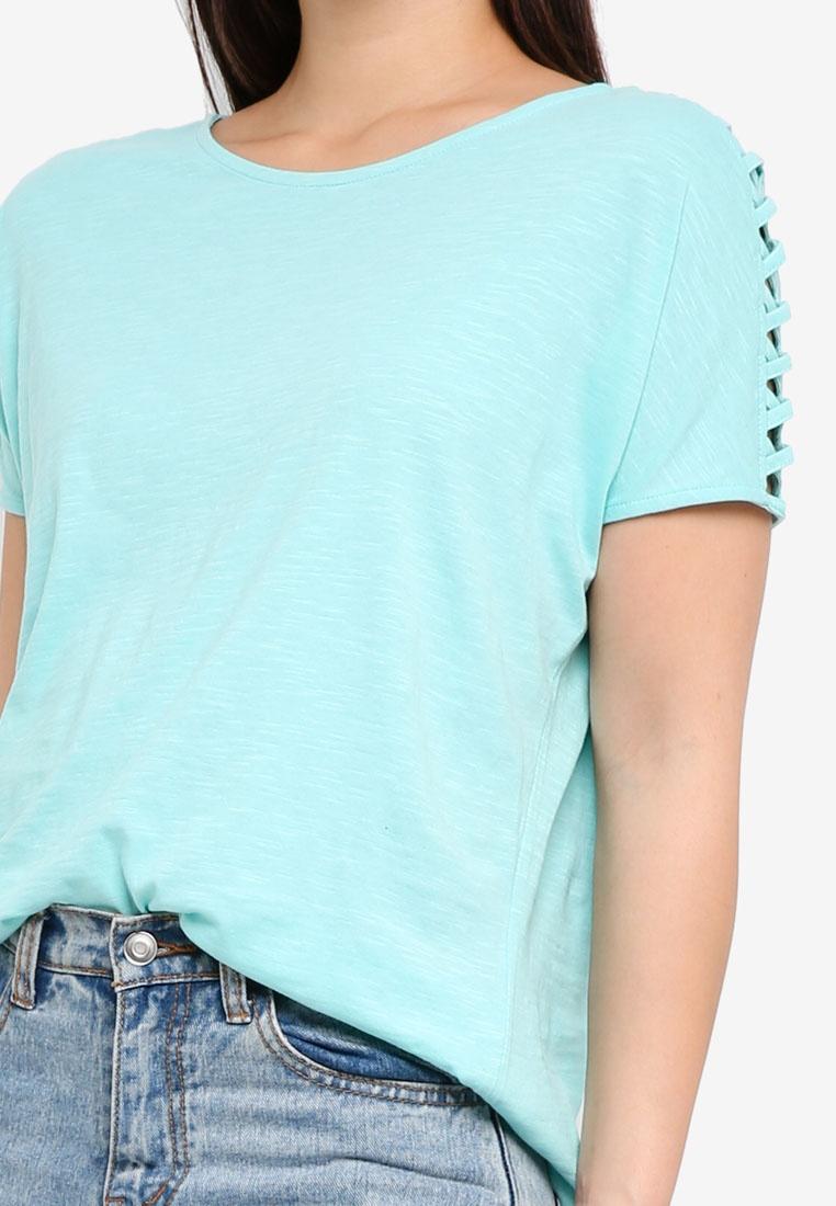 ESPRIT Sleeve Short Shirt Green T pApW1rxcRw