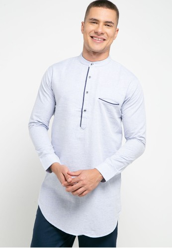 Introspect clothing blue Kemeja Koko C8045AA0FEF12DGS_1