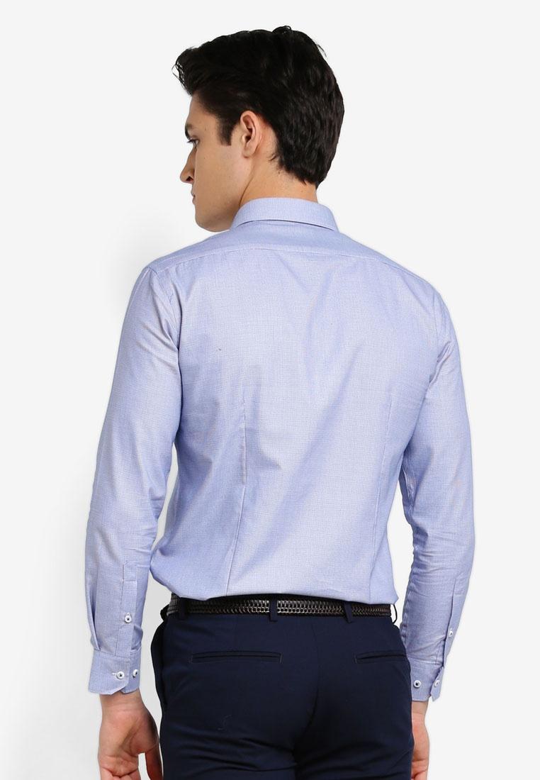 2 Peacoat Shirt Long Sleeve Tone Pattern G2000 COTvwC4q1