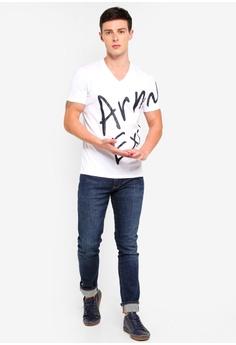 d1ee0d6472b Armani Exchange Written Logo V-Neck T-Shirt RM 328.00. Sizes XS S M XL