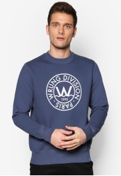 Wrung blue Flo Crew Neck Sweater WR395AA44QYXMY_1