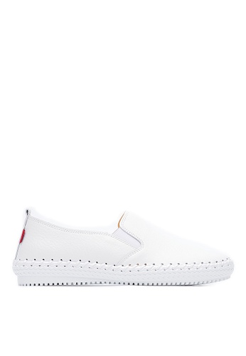 Life8 white Men Women Washable Lightweight Leather Casaul Shoes Sneakers-09566-White LI283SH0FFIFSG_1