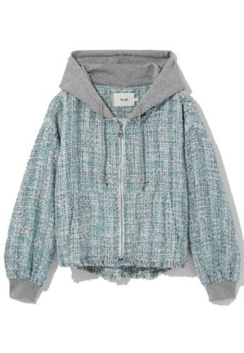 b+ab blue Tweed hoodie ADB61AA252D1E1GS_1