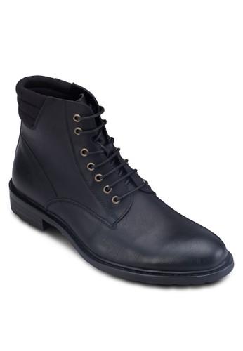 WT- 軍事風高筒皮zalora鞋子評價鞋, 鞋, 鞋