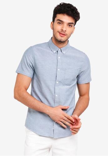 Burton Menswear London green Green Short Sleeve Oxford Shirt 289EDAA55D126BGS_1