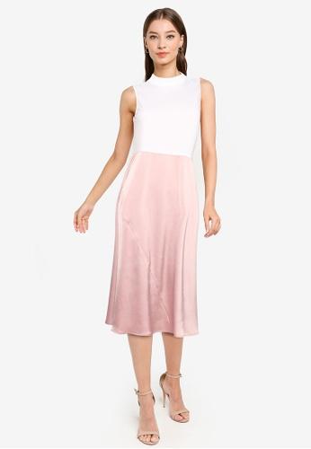 ZALORA WORK multi Contrast Fabric Midi Dress 08A5DAAF493B6AGS_1