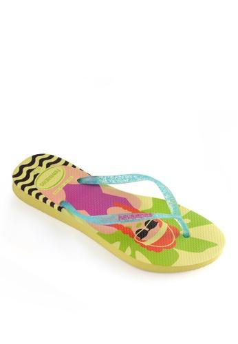 Havaianas yellow Slim Cool Flip Flops E6E69SH12DCEC6GS_1