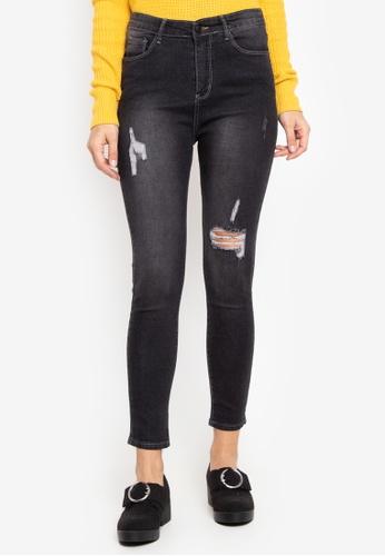 Balaynor black High Waist Distressed Jeans 094B3AAA78B8DEGS_1