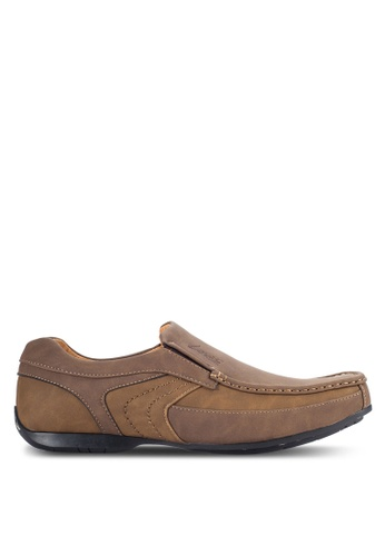 Louis Cuppers brown Casual Slip On Shoes LO977SH15VOEMY_1