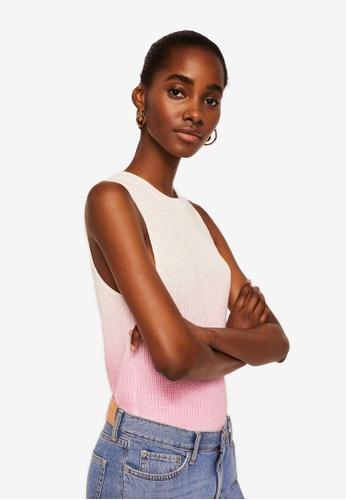 MANGO pink Ombre Top F5992AAEC1EA0AGS_1