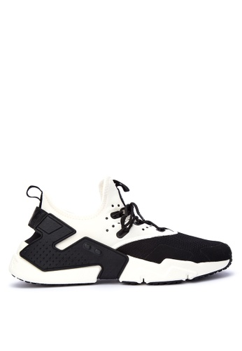 Nike black and white Men's Nike Air Huarache Drift Shoes NI126SH0KPY3PH_1