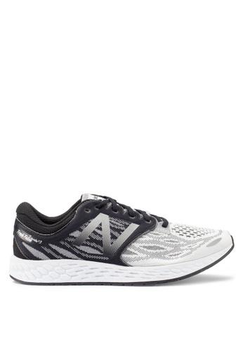 New Balance black and white Zante Performance Running Shoes 4DDCASHFF649EDGS_1