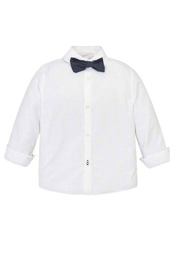 Mayoral white White Bow Tie Shirt 07433KA114BAD5GS_1