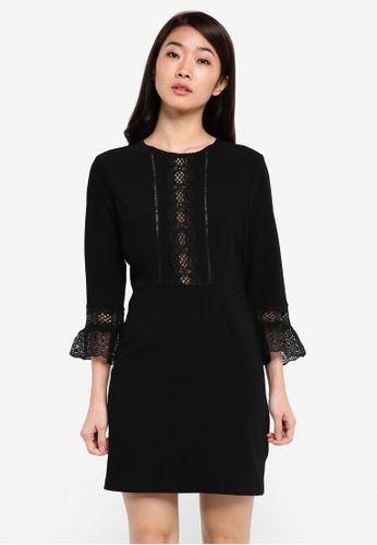 ZALORA black Studio Lace Trim Dress A3CC3AA551325BGS_1