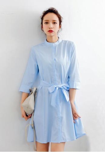 Shopsfashion blue Celora Flare Dress A65C2AA54BF39DGS_1