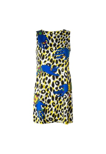 Moschino multi Moschino Leopard Print Jumper Dress in Multicolor DE6D6AABE3B17BGS_1