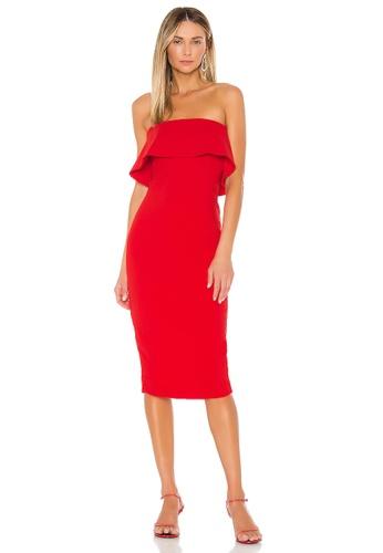 NBD red Astro Midi Dress(Revolve) 5753EAADF656F5GS_1