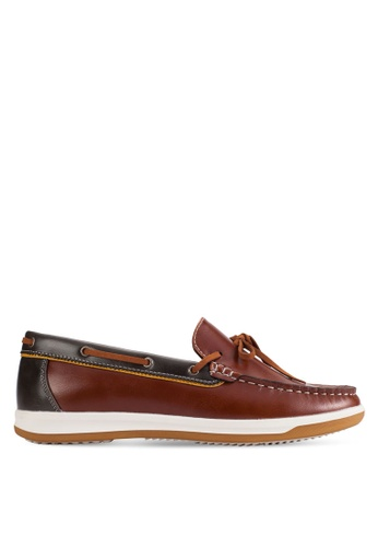 UniqTee brown Slip-On Moccasin With Lace UN097SH97KFUMY_1