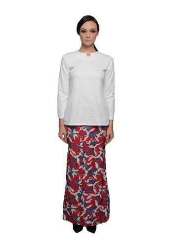 Naima Kurung from Cahaya Lily in White