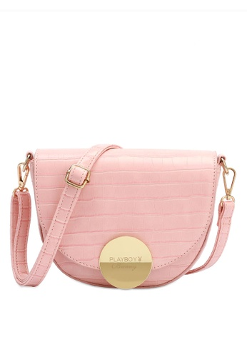 PLAYBOY BUNNY pink Women's Sling Bag / Shoulder Bag / Crossbody Bag F8EEEAC7D7BF59GS_1