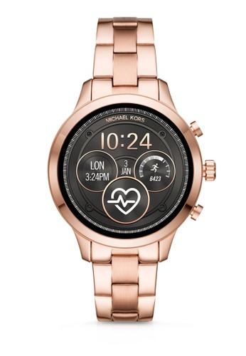 248b7e5dff82 MICHAEL KORS gold Runway Quartz Smartwatch MKT5046 C416EAC6BB2CA7GS 1