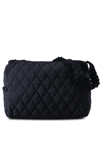 Red's Revenge black Quilted Slouchy Shoulder Bag 1F0C1AC971FED5GS_1