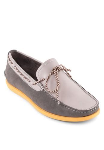 拼色繫帶樂福鞋, 鞋, esprit 香港船型鞋