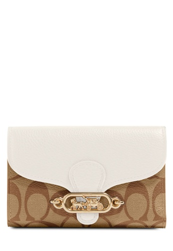Coach white and brown Jade Medium Envelope Wallet (cv) F1587ACBD22636GS_1