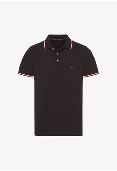 ad270fd317066 Tommy Hilfiger black Tommy Tipped Slim Polo 47E77AAEF026CEGS 1