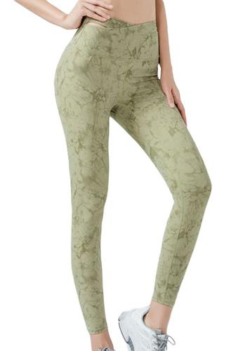 Sunnydaysweety green Floral High Waist Yoga Sports Tights A21031706GR 9655EAA58A0190GS_1