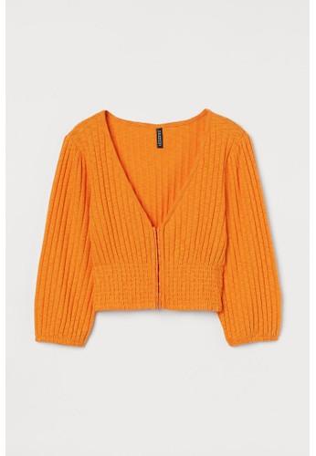 H&M orange Cropped top 593B3AA22D33B6GS_1
