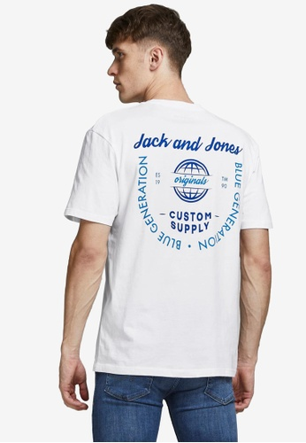 Jack & Jones white Chest Pocket T-Shirt 7A824AAE3BFD4EGS_1