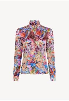 bcfd0abcb Tommy Hilfiger multi Zendaya Satin Shirt Ls B8222AAF4381D7GS 1