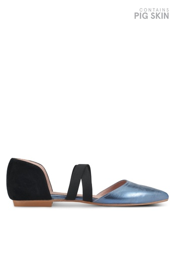 House of Avenues blue Dorsay Flats FB95ESH73D2E75GS_1