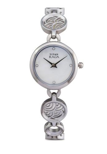 Titan  2512SM01 雙指針時尚鏈esprit品牌介绍飾小圓錶, 錶類, 時尚型