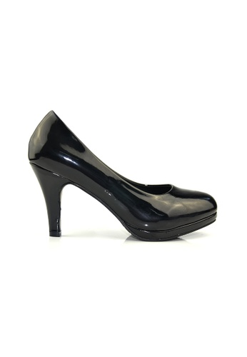 SHINE black Classic Grossy Court Heels 96187SH64DDC3AGS_1