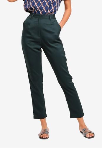 ZALORA BASICS green Basic High Waisted Tailored Pants 973DDAAD57FF97GS_1