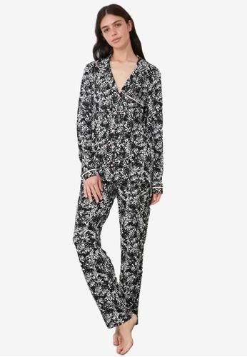 Trendyol multi Printed Shirt Pajamas Set 80DB9AA903AA44GS_1