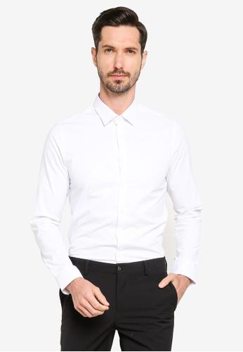 LC Waikiki blue Extra Slim Fit Long Sleeves Poplin Shirt 6E6F9AAC1425CFGS_1