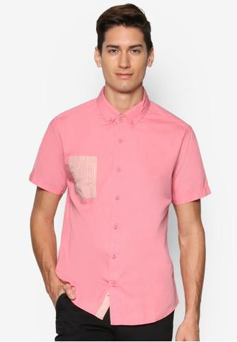 拼色短袖襯衫, 服飾, esprit 京站襯衫
